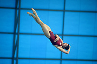 Democratic People's Republic of Korea's Rae Mi Kim competes in the women's 10m Platform final <br /> <br /> Photographer Hannah Fountain/CameraSport<br /> <br /> FINA/CNSG Diving World Series 2019 - Day 2 - Saturday 18th May 2019 - London Aquatics Centre - Queen Elizabeth Olympic Park - London<br /> <br /> World Copyright © 2019 CameraSport. All rights reserved. 43 Linden Ave. Countesthorpe. Leicester. England. LE8 5PG - Tel: +44 (0) 116 277 4147 - admin@camerasport.com - www.camerasport.com