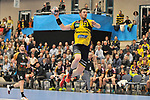 Rhein Neckar Loewe Hendrik Pekeler (Nr.23) beim Sprung beim Spiel in der Handball Champions League, Rhein Neckar Loewen - HBC Nantes.<br /> <br /> Foto &copy; PIX-Sportfotos *** Foto ist honorarpflichtig! *** Auf Anfrage in hoeherer Qualitaet/Aufloesung. Belegexemplar erbeten. Veroeffentlichung ausschliesslich fuer journalistisch-publizistische Zwecke. For editorial use only.