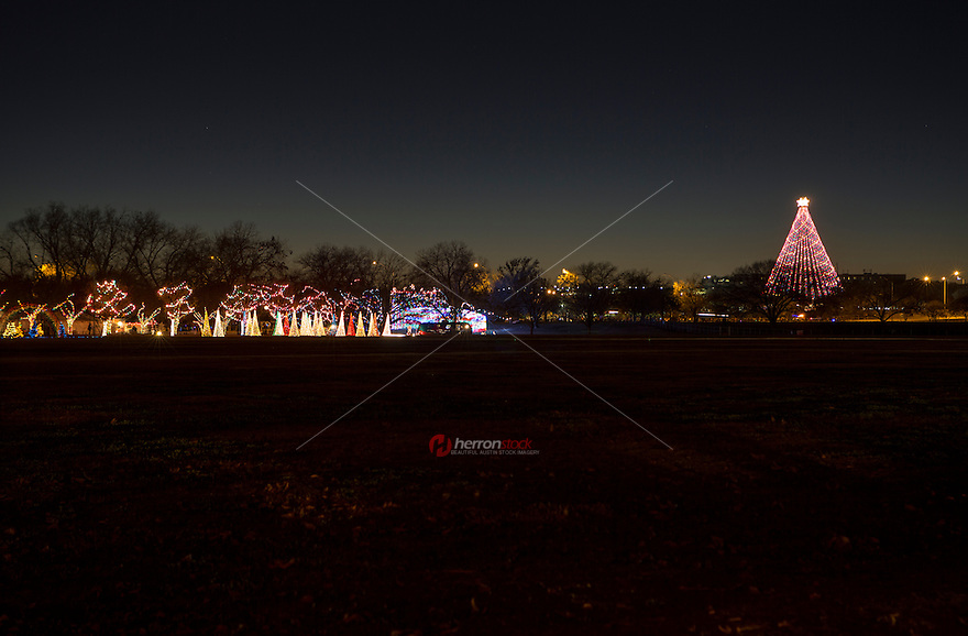 Zilker Holiday Tree as seen through the Zilker Park Trail of Lights, is America's top holiday lighting displays