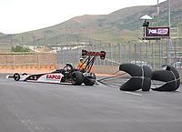 Jul 23, 2017; Morrison, CO, USA; NHRA top fuel driver Steve Torrence during the Mile High Nationals at Bandimere Speedway. Mandatory Credit: Mark J. Rebilas-USA TODAY Sports