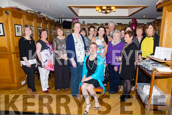 Marie Flood from Gortnagree, Kells seated front celebrated her 50th birthday with work colleagues from SKDP in the Ring  of Kerry Hotel on Friday evening last
