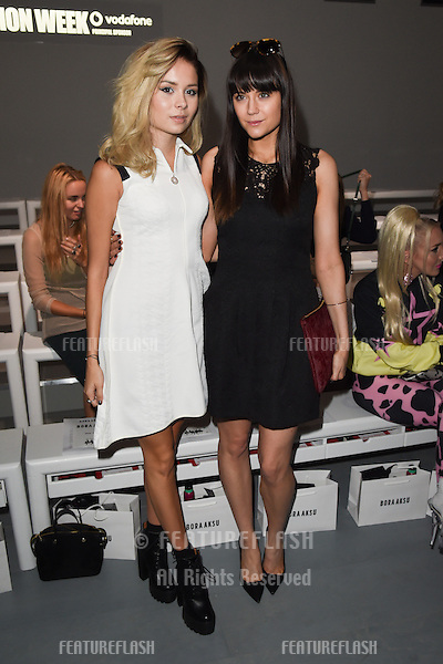 Nina Nesbitt and Lilah Parsons at the Bora Aksu show as part of London Fashion Week SS15.  12/09/2014 Picture by: Steve Vas / Featureflash