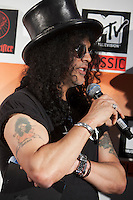 Slash at the media call for the MTV Classic launch at Maze Restaurant, Crown Metropole, Melbourne, 27 April 2010