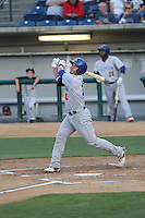 Beau Taylor (13) of the Stockton Ports bats during a game against the Rancho Cucamonga Quakes at LoanMart Field on June 13, 2015 in Rancho Cucamonga, California. Stockton defeated Rancho Cucamonga, 14-2. (Larry Goren/Four Seam Images)