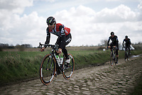 Edvald Boasson Hagen (Nor/DimensionData)<br /> <br /> recon of the 114th Paris - Roubaix