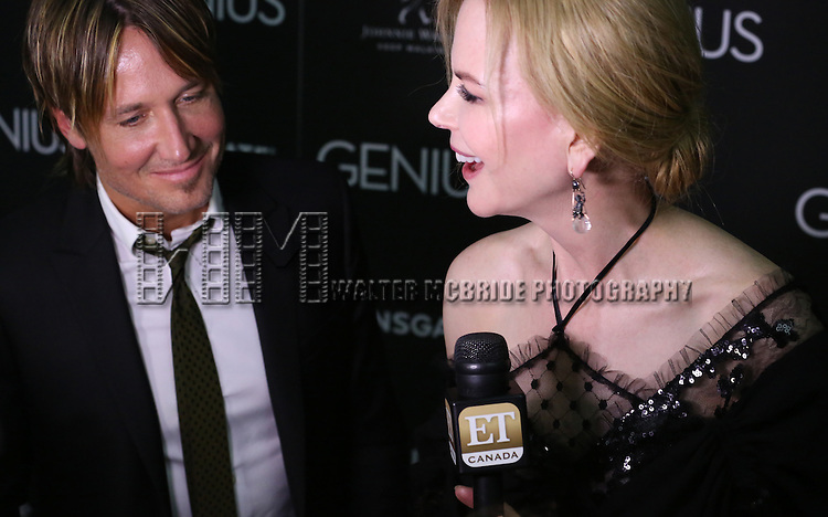 Keith Urban and Nicole Kidman attend 'Genius' New York premiere at Museum of Modern Art on June 5, 2016 in New York City.
