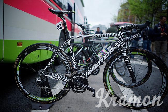 check the stripes on Rafael Valls' machine...<br /> <br /> 101th Liège-Bastogne-Liège 2015