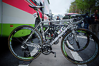 check the stripes on Rafael Valls' machine...<br /> <br /> 101th Liège-Bastogne-Liège 2015