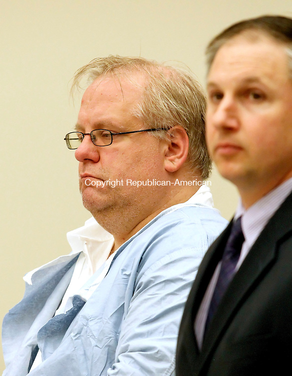 Waterbury, CT-10, May 2010-051010CM01  Patrick Cannon (left) is arraigned in the Waterbury Superior Courthouse Monday morning.  Cannon, of Wolcott, is charged with murdering his wife, Cynthia Cannon, who as of Monday morning has not been found.  State and local law enforcement continued their search for evidence today.      --Christopher Massa Republican-American