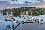 Vashon Island, WA:<br /> Boats and docks of the Quartermaster Yacht Club and the Burton Peninsula