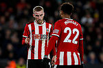 Oliver McBurnie and Lys Mousset of Sheffield United during the Premier League match at Bramall Lane, Sheffield. Picture date: 10th January 2020. Picture credit should read: James Wilson/Sportimage