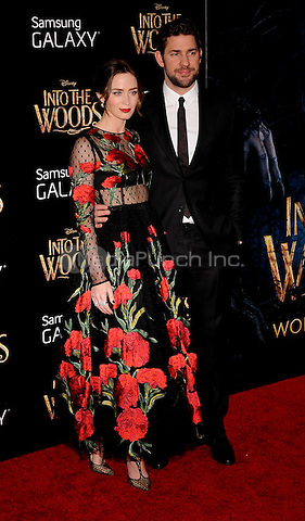 New York,NY-December 8: Emily Blunt, John Krasinski  Attends the 'Into The Woods' world premiere at the Ziegfeld Theater on December 8, 2014. Credit: John Palmer/MediaPunch