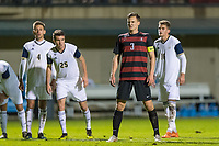 Stanford, CA - November 30, 2018: Stanford falls to the University of Akron Zips 2-3 in a NCAA quarter final Men's soccer game at Laird Q. Cagan Stadium.