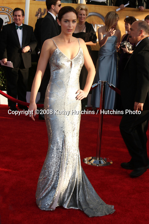 Emily Blunt . arriving at the Screen Actors Guild Awards, at the Shrine Auditorium in Los Angeles, CA on .January 25, 2009.©2008 Kathy Hutchins / Hutchins Photo..