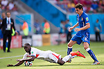 Joel Campbell (CRC), Matteo Darmian (ITA), JUNE 20, 2014 - Football / Soccer : FIFA World Cup Brazil 2014 Group D match between Italy 0-1 Costa Rica at Arena Pernambuco in Recife, Brazil. (Photo by Maurizio Borsari/AFLO) [0855]