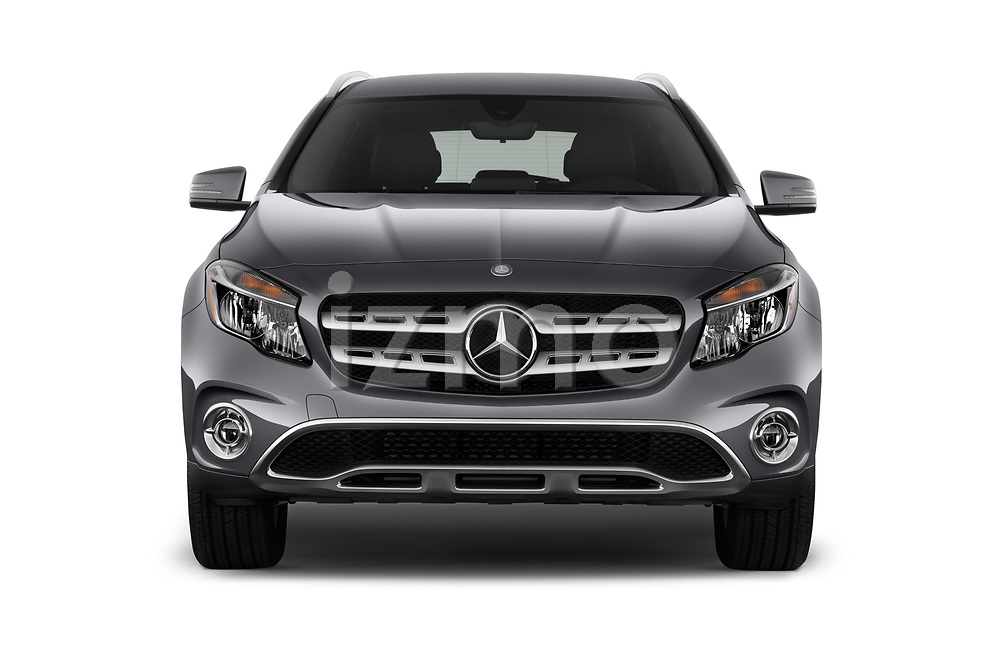 Car photography straight front view of a 2018 Mercedes Benz GLA GLA250 5 Door SUV