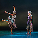 Alvin Ailey American Dance Theater present a programme of four UK premieres at Sadler's Wells as part of their tour with Dance Consortium this autumn. This piece is: Four Corners, choreographed by Ronald K Brown. The dancers in this piece are: Danica Paulos, Samantha Figgins, Jeroboam Bozeman, Jacquelin Harris, Rachael McLaren, Jamar Roberts, Glenn Allen Sims, Collin Heyward, Vernard J Gilmore, Akua Noni Parker, Sarah Daley.