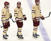 Patrick Wey (BC - 6), Bill Arnold (BC - 24), Brian Dumoulin (BC - 2) - The Boston College Eagles defeated the University of Minnesota Golden Gophers 6-1 in their 2012 Frozen Four semi-final on Thursday, April 5, 2012, at the Tampa Bay Times Forum in Tampa, Florida.