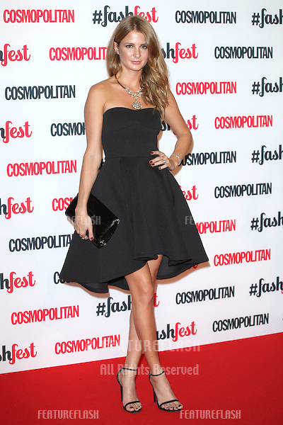 Millie Mackintosh arriving for the Cosmopolitan Fashfest, at Battersea Evolution, London. 18/09/2014 Picture by: Alexandra Glen / Featureflash