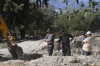 "Pictured: Special forensics police officers search a field in Kos, Greece. Wednesday 28 September 2016<br /> Re: Police teams searching for missing toddler Ben Needham on the Greek island of Kos have said they are ""optimistic"" about new excavation work.<br /> Ben, from Sheffield, was 21 months old when he disappeared on 24 July 1991 during a family holiday.<br /> Digging has begun at a new site after a fresh line of inquiry suggested he could have been crushed by a digger.<br /> South Yorkshire Police (SYP) said it continued to keep an ""open mind"" about what happened to Ben. Pictured: Special forensics police officers search a field in Kos, Greece. Thursday 29 September 2016<br /> Re: Police teams searching for missing toddler Ben Needham on the Greek island of Kos have said they are ""optimistic"" about new excavation work.<br /> Ben, from Sheffield, was 21 months old when he disappeared on 24 July 1991 during a family holiday.<br /> Digging has begun at a new site after a fresh line of inquiry suggested he could have been crushed by a digger.<br /> South Yorkshire Police (SYP) said it continued to keep an ""open mind"" about what happened to Ben."