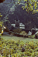 Europe/France/Auvergne/12/Aveyron/Conques&nbsp;: L'abbatiale Sainte-Foy (XI&egrave;me)<br /> PHOTO D'ARCHIVES // ARCHIVAL IMAGES<br /> FRANCE 1980