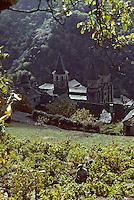 Europe/France/Auvergne/12/Aveyron/Conques: L'abbatiale Sainte-Foy (XIème)<br /> PHOTO D'ARCHIVES // ARCHIVAL IMAGES<br /> FRANCE 1980