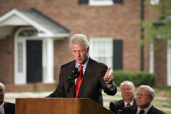 Thursday, May 31, Charlotte, North Carolina. Dedication ceremony for the new Billy Graham Library in Charlotte, North Carolina.. Former US president Bill Clinton spoke of the first time he saw Billy Graham.