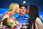 Giulio Ciccone (ITA) Trek-Segafredo retains the Mountains Maglia Azzurra at the end of Stage 4 of the 2019 Giro d'Italia, running 235km from Orbetello to Frascati, Italy. 14th May 2019<br /> Picture: Massimo Paolone/LaPresse | Cyclefile<br /> <br /> All photos usage must carry mandatory copyright credit (© Cyclefile | Massimo Paolone/LaPresse)