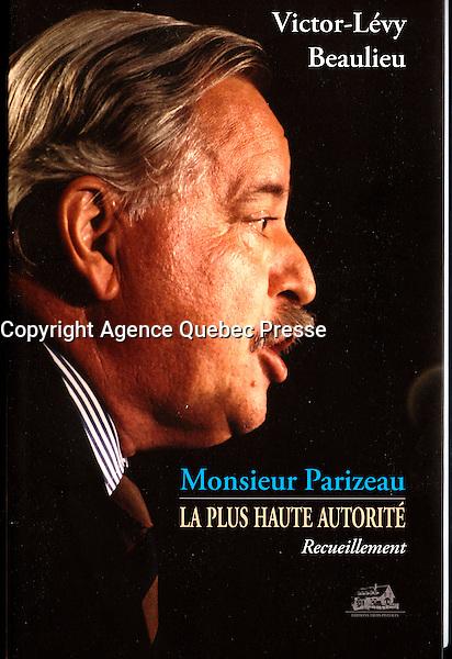 Publication  en couverture d'un livre sur jacques Parizeau<br /> <br /> Photo : Pierre Roussel