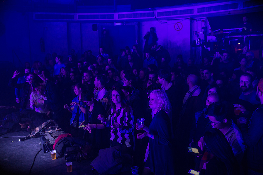 Brussels, Belgium: Public of festival Propulse at the Botanique, February 2018.