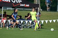 Kansas City, MO - Saturday June 25, 2016:  Erika Tymrak, Elli Reed during a regular season National Women's Soccer League (NWSL) match at Swope Soccer Village.