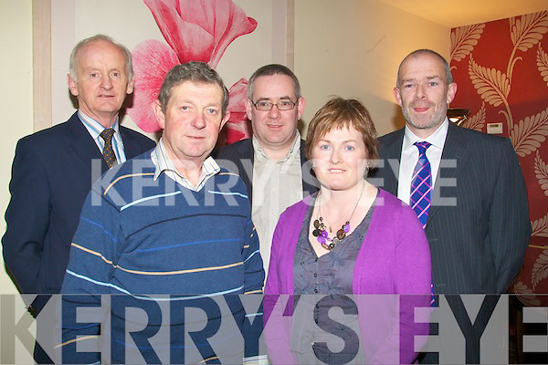 GAA: Having a good night at the Causeway GAA Social on Friday night in Ballyroe Heights Hotel, Tralee. Front l-r: Mike Joe Quilter and May Jo Murphy. Back l-r: Roy Dineen, Seamus Buckley and JJ Delaney.................................. ....