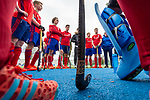 Mannheim, Germany, March 10: During the friendly fieldhockey match between Mannheimer HC (red) and Hamburger Polo Club (white) in the 1. Deutsche Feldhockey Bundesliga on March 10, 2019 at Am Neckarkanal in Mannheim, Germany. (Photo by Dirk Markgraf / www.265-images.com) *** Local caption ***