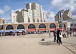 Hotels shops on promenade Scheveningen, Holland