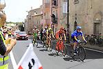 The breakaway group, Lukasz Owsian (POL) CCC Sprandi Polkowice, Simone Andreetta (ITA) Bardiani CSF, Evgeny Shalunov (RUS) Gazprom-Rusvelo, Daniel Teklehaimanot (ERI) Dimension Data and Ilia Koshevoy (BLR) Wilier Triestina-Selle Italia, pass through Ala dei Sardi during Stage 2 of the 100th edition of the Giro d'Italia 2017, running 221km from Olbia to Tortoli, Sardinia, Italy. 6th May 2017.<br /> Picture: Ann Clarke | Cyclefile<br /> <br /> <br /> All photos usage must carry mandatory copyright credit (&copy; Cyclefile | Ann Clarke)