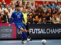 20191010 - HALLE: Halle-Gooik's Patias  is pictured during the UEFA Futsal Champions League Main Round match between FP Halle-Gooik (BEL) and Kherson (UKR) on1 0th October 2019 at De Bres Sportcomplex, Halle, Belgium. PHOTO SPORTPIX | SEVIL OKTEM