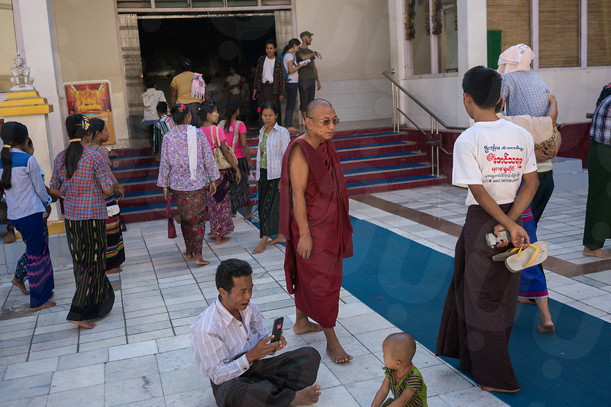 October 26, 2015 - Mandalay (Myanmar). U Kar Wi Ya - also known as Ga Lone Ni Sayataw - is one of the few Buddhist monk who publicly stands against Ma Bah Tha. He spent 20 years in jail accused with sedition against the military junta. © Thomas Cristofoletti / Ruom