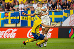 17.07.2017, Rat Verlegh Stadion, Breda, NLD, Breda, UEFA Women's Euro 2017 , <br /> <br /> im Bild | picture shows<br /> Nilla Fischer (Schweden #5) gegen Anna Blaesse (Deutschland #14), <br /> <br /> Foto &copy; nordphoto / Rauch