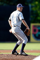 July 16, 2009:  Starting Pitcher Graham Hicks of the Vermont Lake Monsters during a game at Russell Diethrick Park in Jamestown Jammers, NY.  The Lake Monsters are the NY-Penn League Short-Season Class-A affiliate of the Washington Nationals.  Photo By Mike Janes/Four Seam Images