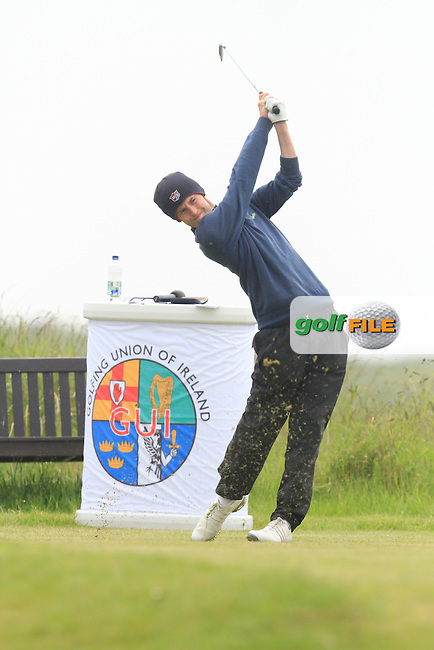 Darragh Conlon (Athenry) at the 1st during Round 1 of the Irish Amateur Close Championship at Seapoint Golf Club on Saturday 7th June 2014.<br /> Picture:  Thos Caffrey / www.golffile.ie