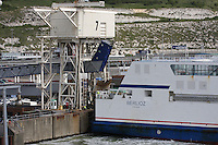The passenger ferry Berlioz of the Sea France fleet docked at the Port of Dover, Kent on 24.5.13.