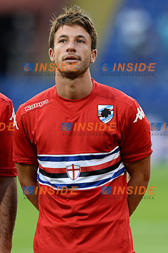 Gianluca Sansone <br /> Genova 02-08-2014 Stadio Marassi <br /> Calcio 2014/2015 Sampdoria - Eintracht Francoforte <br /> Foto Matteo Gribaudi / Image/ Insidefoto
