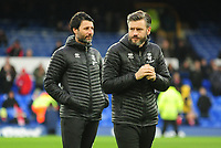 Lincoln City manager Danny Cowley, left, and `Lincoln City's assistant manager Nicky Cowley during the pre-match warm-up<br /> <br /> Photographer Andrew Vaughan/CameraSport<br /> <br /> Emirates FA Cup Third Round - Everton v Lincoln City - Saturday 5th January 2019 - Goodison Park - Liverpool<br />  <br /> World Copyright &copy; 2019 CameraSport. All rights reserved. 43 Linden Ave. Countesthorpe. Leicester. England. LE8 5PG - Tel: +44 (0) 116 277 4147 - admin@camerasport.com - www.camerasport.com