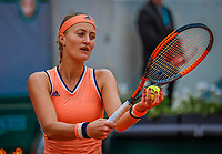 Paris, France, 28 May, 2018, Tennis, French Open, Roland Garros, Kristina Mladenovic (FRA)<br /> Photo: Henk Koster/tennisimages.com