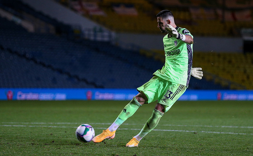 Leeds United's Kiko Casilla scores his penalty<br /> <br /> Photographer Alex Dodd/CameraSport<br /> <br /> Carabao Cup Second Round Northern Section - Leeds United v Hull City -  Wednesday 16th September 2020 - Elland Road - Leeds<br />  <br /> World Copyright © 2020 CameraSport. All rights reserved. 43 Linden Ave. Countesthorpe. Leicester. England. LE8 5PG - Tel: +44 (0) 116 277 4147 - admin@camerasport.com - www.camerasport.com
