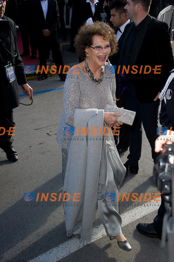 "Claudia Cardinale - Montee des marches du film ""Ma vie avec Liberace"" lors du 66eme Festival du film de Cannes le 21 mai 2013 Jessica Chastain arrives at the screening of the film ""Behind the Candelabra"" during the 66th annual Cannes International Film Festival in Cannes, France on May 21, 2013. .Cannes 21/5/2013 .66mo Festival del Cinema di Cannes 2013 .Foto Panoramic / Insidefoto .ITALY ONLY"
