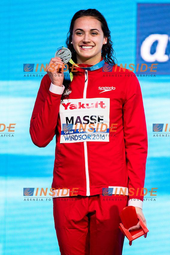 MASSE Kylie Jacqueline CAN Silver Medal<br /> Women's 100m Backstroke<br /> 13th Fina World Swimming Championships 25m <br /> Windsor  Dec. 7th, 2016 - Day02 Finals<br /> WFCU Centre - Windsor Ontario Canada CAN <br /> 20161207 WFCU Centre - Windsor Ontario Canada CAN <br /> Photo &copy; Giorgio Scala/Deepbluemedia/Insidefoto