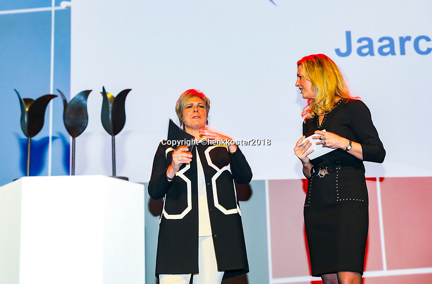 Nieuwegein,  Netherlands, 24 November 2018, KNLTB Year congress KNLTB, prinses Laurentien and Kristy Boogert (R)<br /> Photo: Tennisimages.com/Henk Koster