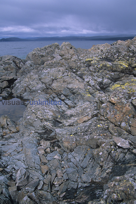 Lake Superior granite shoreline, some of the oldest rocks on earth, Ontario, Canada.