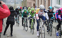 Gent-Wevelgem 2013.Jens Debusschere (BEL) riding strong today, 2nd run into Cassel..